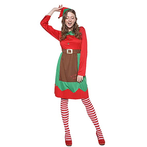 Amazon.es: YMMONLIA Lady Christmas Elf Set,Disfraz de ...