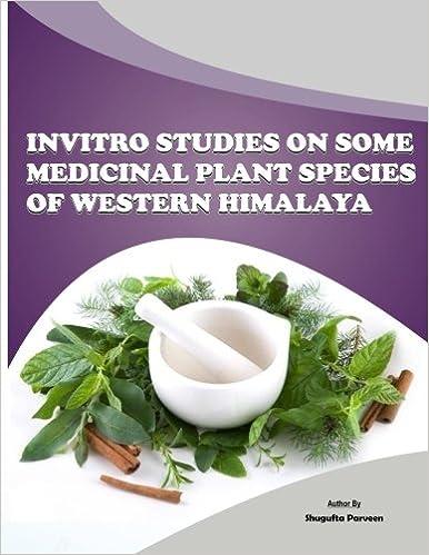 Invitro Studies On Some Medicinal Plant Species Of Western Himalaya (1st)