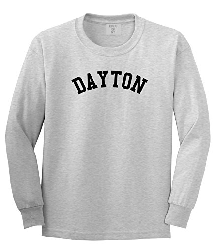 Dayton Ohio Long Sleeve T-Shirt Medium Grey