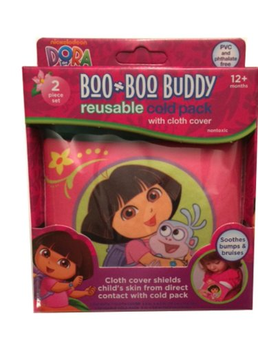 MZB Boo Boo Buddies Cold Pack with Comfort Cover, Dora The E