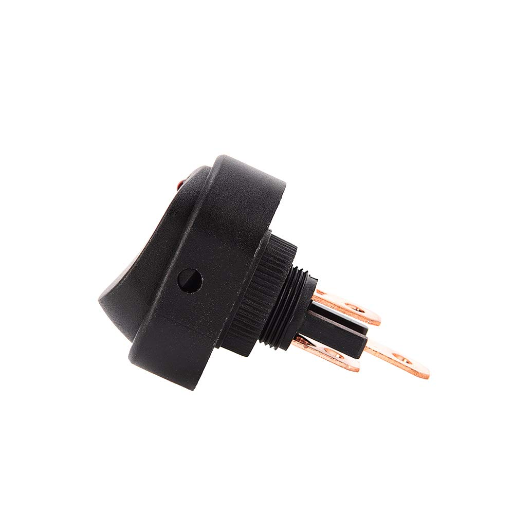 Voupuoda 1 Unids LED Dot Light Interruptor Basculante 12V Coche Auto Barco Marino ON//Off Conmutador SPST con Indicador Rojo