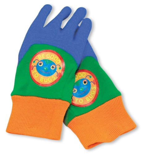 Melissa & Doug Be Good to Bugs Gardening Gloves for Kids (Garden Tools Works)