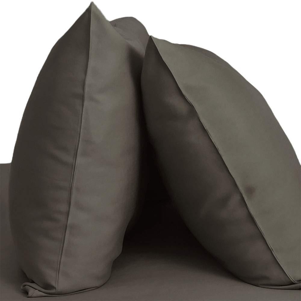 Cariloha Resort Bamboo Pillowcases 2 Piece Pillowcase Set - 100% Viscose from Bamboo Bedding (King, Onyx)