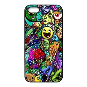 Personalized Solid Silicone Material Diy For SamSung Galaxy S4 Case Cover Colorful Trippy Smiling Face Pattern s Diy For SamSung Galaxy S4 Case Cover Fashion and High Quality