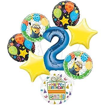Amazon.com: Despicable Me 2 Minions Feliz cumpleaños Partido ...