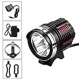 Besde 10000Lumen 3X CREE XM-L2 LED Cycling Front Bicycle Bike Light Headlight Headlamp (Black, 10000Lumen)