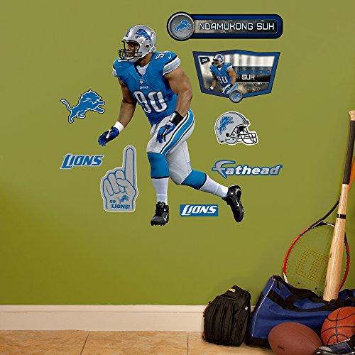 NFL Detroit Lions Ndamukong Suh Fathead Wall Decal, Junior