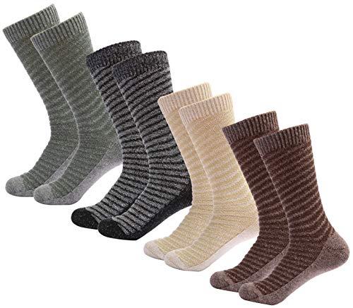 Mio Marino Women's Warm Wool Socks - Soft Cozy Thick Knitted Socks - 4 Pack - Gift Box (Rustic, 9-11)