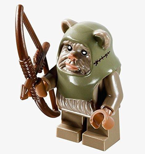 LEGO Star Wars Minifigure - Ewok Warrior Dark Tan with Bow and Arrow Weapon (10236) (Lego Star Wars Ewoks)