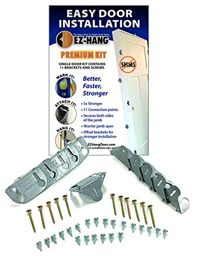 Premium Door Installation Kit - Strongest Door Installation on The Market. Includes 11 Bracket and All - Ez Install Kit