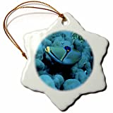 3dRose orn_72007_1 Arabian Picasso Triggerfish, Panorama Reef, Red Sea, Egypt AF14 AKA0033 Ali Kabas Snowflake Porcelain Ornament, 3-Inch
