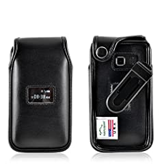 Turtleback TracFone ZTE Cymbal T. Flip Phone Fitted Case, Black Leather with a Rotating Removable Belt Clip. Never misplace your flip phone again with our fitted leather flip phone case. Made out of premium bonded leather, its ergonomic desig...