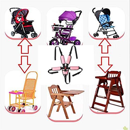 remplacement de ceinture sans danger pour b/éb/é pour poussette chaise haute poussette landau poussette enfants harnais /à 5 points harnais de chaise haute Sangles de chaise haute Rose
