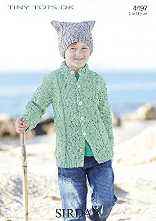Amazon Sirdar Boys Cardigan Hat Tiny Tots Knitting Pattern