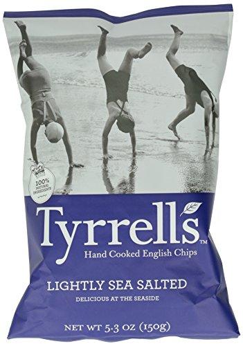 Tyrrell's Crisps, Lightly Sea Salted, 5.3 Ounce (Low Chips Potato Salt)