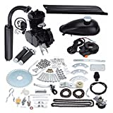 JDMSPEED New Black 50cc 2 Stroke Cycle Motor Kit Motorized Bike Petrol Gas Bicycle Engine