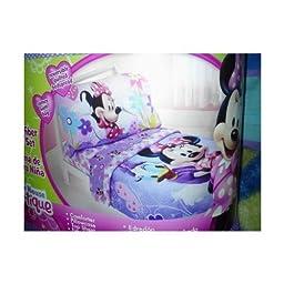 Disney Minnie Mouse 4pc Toddler Bedding Set Bow-tique Lavander