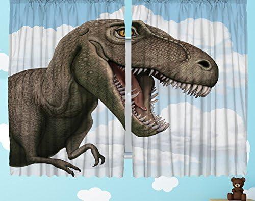 Ambesonne Dinosaur Curtains
