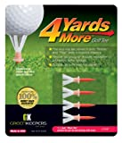 4 Yards More Golf Tees - 1 3/4' Short Tee (4 Red Tees)