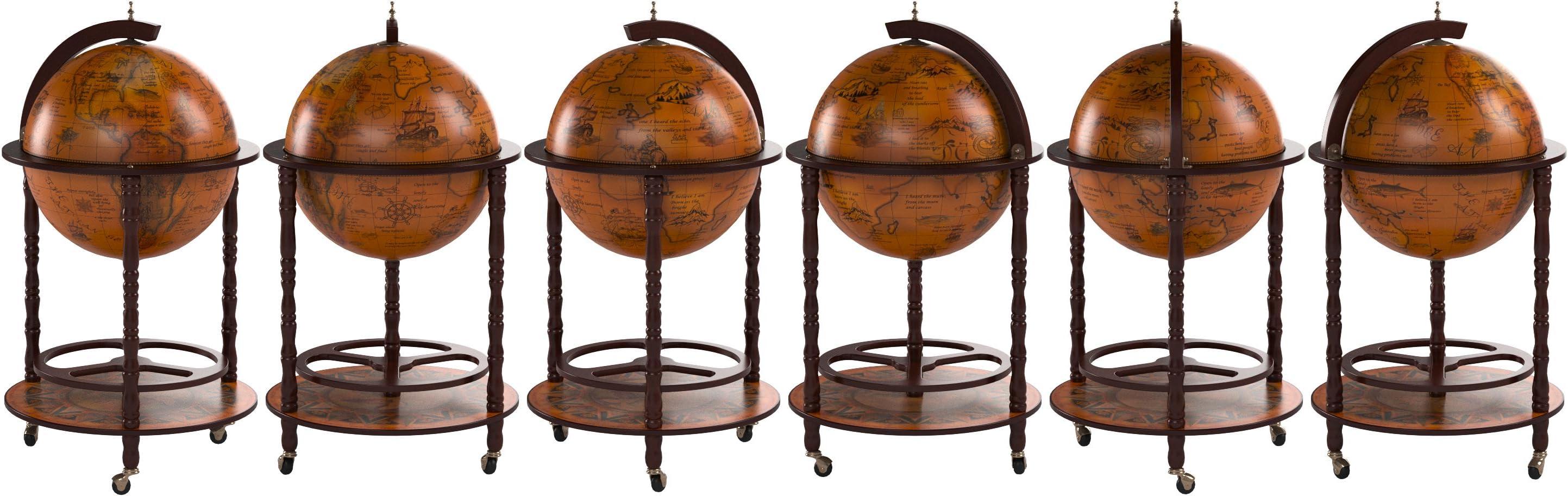 Globe de bar de bureau rotatif avec casier /à vin int/égr/é sur laxe nord-sud de la terre,B