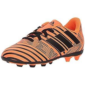 adidas Originals Boys' Nemeziz 17.4 FxG J Soccer Shoe, Solar Orange/Black/Solar Orange, 5 M US Big Kid