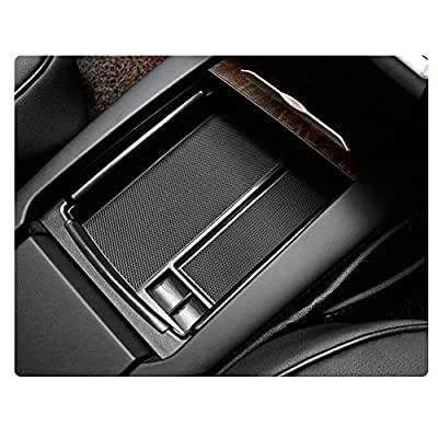 YEE PIN Car Center Console Armrest Storage Box Organizer Tray for Tesla Model S X Classified Storage Safe Tidy