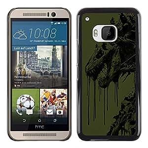 """For HTC One ( M9 ) , S-type Resumen del dragón"""" - Arte & diseño plástico duro Fundas Cover Cubre Hard Case Cover"""