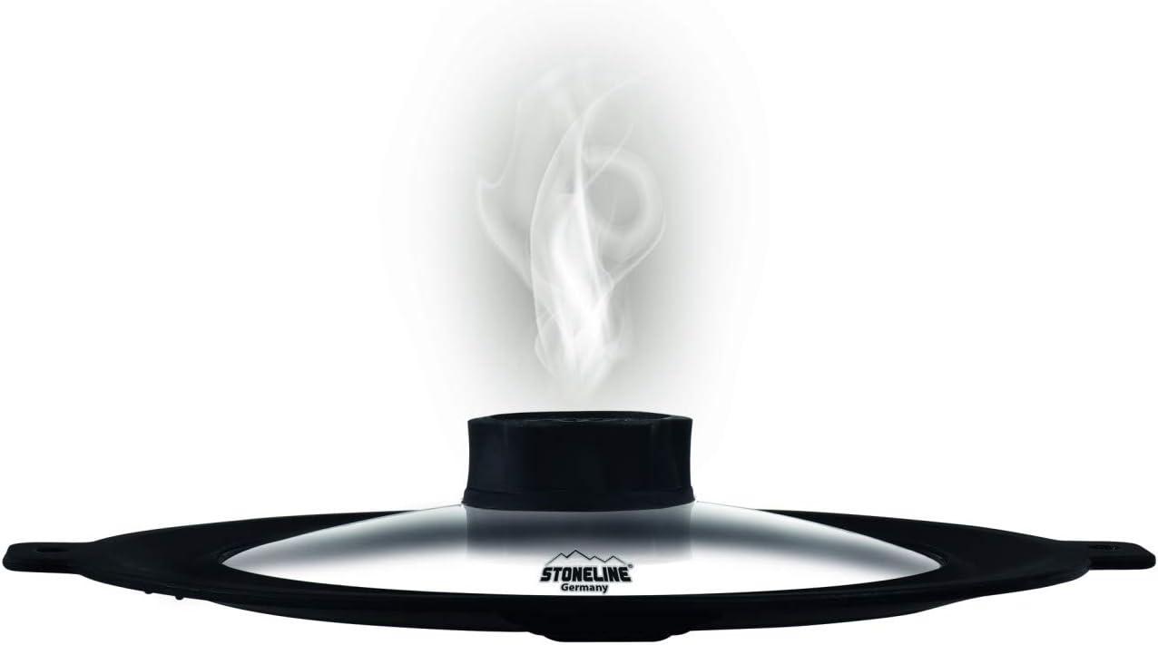 Tapa de cristal multiusos STONELINE® Smell Well para Ø 22, 24, 26 y 28 cm, incl. juego de recarga Smell Well: Amazon.es: Hogar