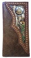 Custom Masonic Past Master Long Wallet with Realtree Camo Inlay
