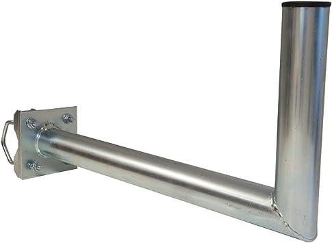 skyre V 20 – 25 cm Diámetro 48 mm terreno brazo balkonhalterung barandilla plana – Antena parabólica de poste de brazo soporte de pared con abrazadera ...