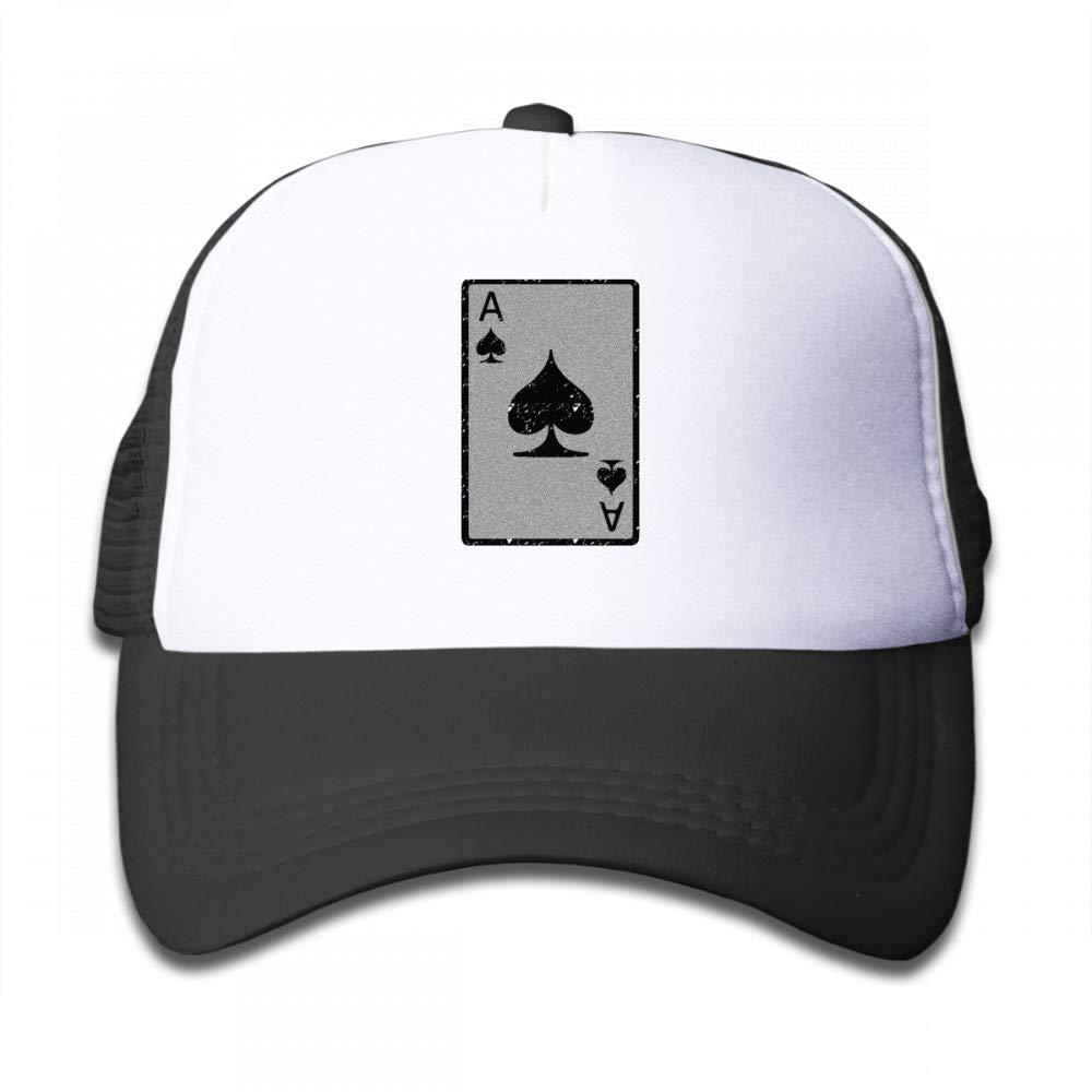 Kid's Boys Girls Ace of Spades Youth Mesh Baseball Cap Summer Adjustable Trucker Hat