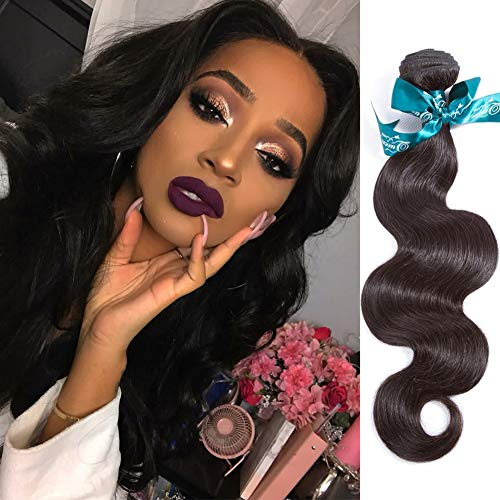 Queen Love Hair Brazilian Body Wave 1 Bundle100% Human Hair 8A Braziian Body Wave Single Bundle 100g Hair (24 inch)