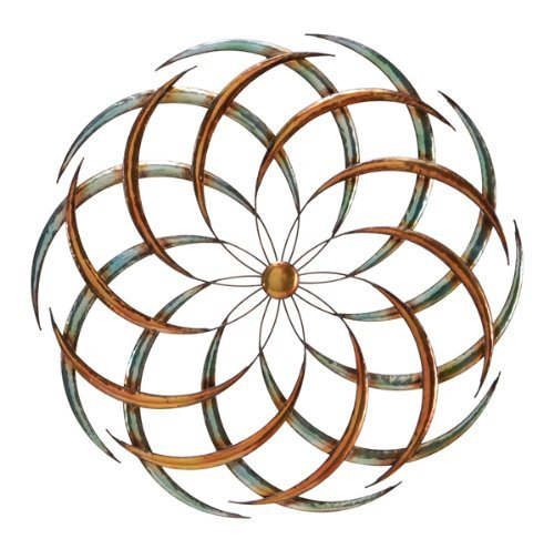 - Bellaa 27239 Metal Wall Art Big Bang Sun Decor Sculpture (Multi, 24