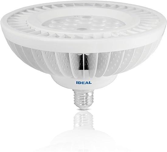 Ideal 47 Watt 300W Torchier Indoor Up Light CREE XPG2 LED – 2900K Reveal Warm – Dimmable – 3610 Lumen – 40 Degree Gradient Flood – White Case