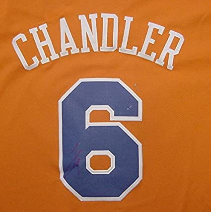 Tyson Chandler New York Knicks Autographed Orange Christmas  6 Jersey 626c6f4d0