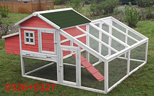 70-Wooden-Chicken-Coop-Hen-House-Rabbit-Hutch-Big-Backyard-Pet-Cage-6010-0326P6010-0327