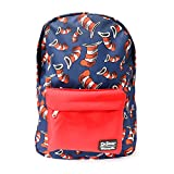 Loungefly x Dr.Seuss Cat Hat Navy And Red 18'' School AOP Backpack