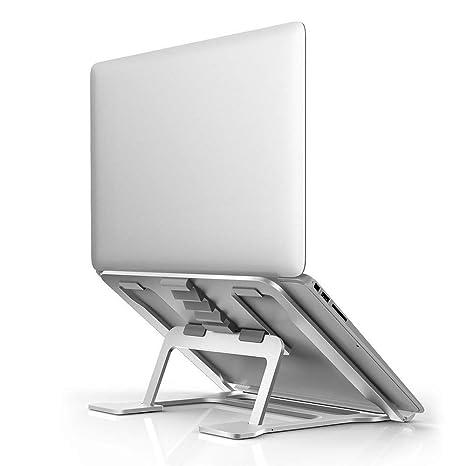 MiraCase Soporte para ordenador portátil, 6 niveles ajustables, soporte de aluminio ventilado portátil compatible