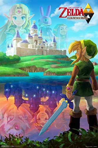 Pyramid America Laminated Zelda A Link Between Worlds Sign Poster 12x18 inch