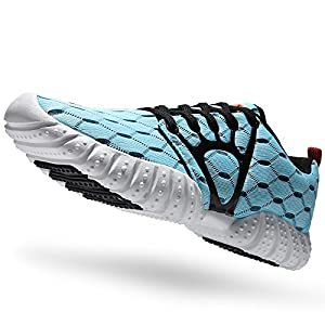 ALEADER Women's Lightweight Mesh Sport Running Shoes Light Blue 5.5 D(M) US