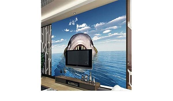 Wuyyii Fondos De Pantalla Personalizados 3D Tiburón Marino Tridimensional Sofá Tv Decoración Del Hogar Para Cuarto En 3D Relevo-400X280Cm: Amazon.es: Bricolaje y herramientas