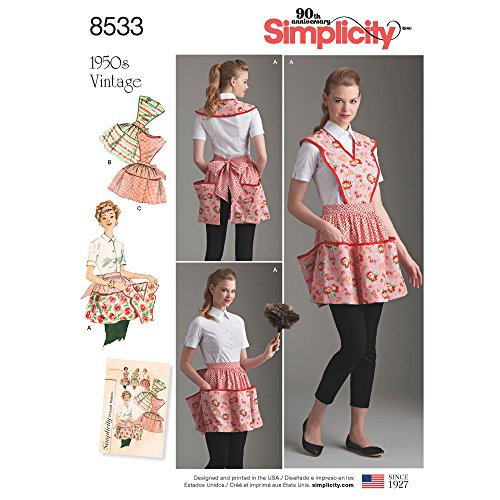 Vintage Apron Sewing Patterns - Simplicity Patterns US8533A Sewing Pattern Crafts, A (S-M-L)