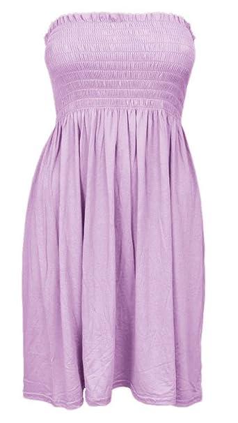 Damen trägerloses, Bandeau Taille zweieinhalbfache Kleid Gr. Small /  Medium, babyrosa