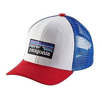 Patagonia KS Trucker Gorra de Pesca, Unisex niños, p-6 Logo Blanco,