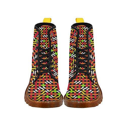 Le Interest Labyrinthe Coloré Martin Bottes Mode Chaussures Pour Femmes