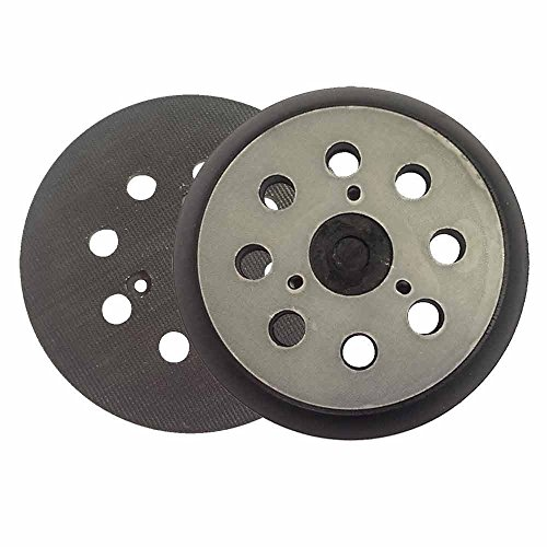 MTP 5 inch Diameter 8 Hole Sander Hook and Loop Pad Replaces Makita Part Number 743081-8, 743051-7 and Hitachi Part Number 324-209 (2 pk)