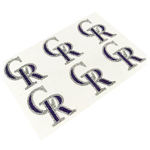 (EyeBlack Colorado Rockies MLB Glitter Cheek Decals, Perfect for Game Day and Tailgate (12 Decals))