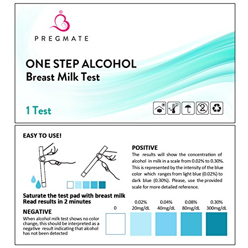 PREGMATE 25 Alcohol Breastmilk Test Strips Breastfeeding Breast Milk Test (25 Pack) by PREGMATE (Image #1)