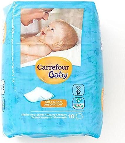 Carrefour Matelas A Langer 60x60cm 10 Par Paquet Amazon Fr Bebes Puericulture