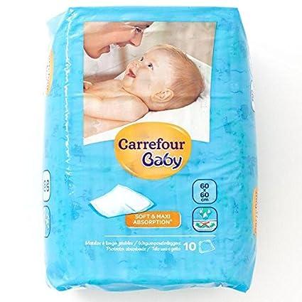 Carrefour bebé Cambio Mats 60x60cm 10 por paquete: Amazon.es ...